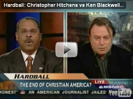 Hardball: Ken Blackwell vs. Serverus Snape (also known as Christopher Hitchens)
