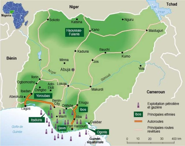 map from le monde 1999 oil producing regions in nigeria note ilajeland is adjacent to itsekiri region wandooorg