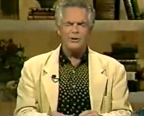 Pastor Robert Tilton smells imaginary bread.