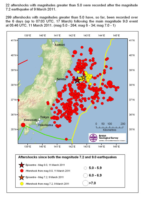 March Radiation Measurements Map Of Japan Knights - Japan 2011 map