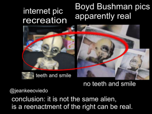 Boyd Bushman Fake Alien (Doll) Hoax Picture Comparison